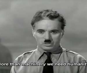 charlie chaplin, humanity, and quote image