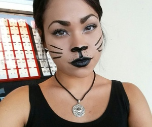 cat, kitty, and makeup image