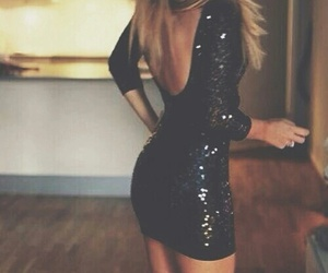 dress, black, and party image