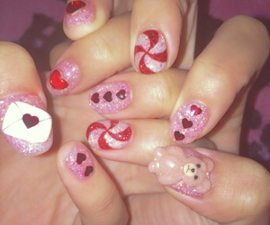 heart, Letter, and nail image