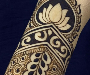 henna, tattoo, and mehendi image