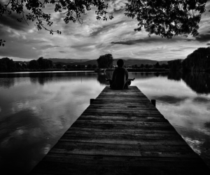 black and white and peace image