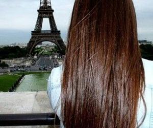 hair, paris, and girl image