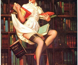 art, books, and gil elvgren image