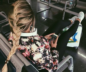 airport, blonde hair, and inspiration image