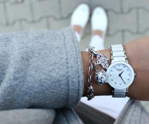 bracelet, coat, and heart image