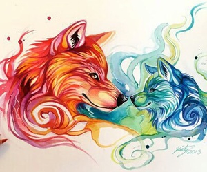 wolf, drawing, and draw image