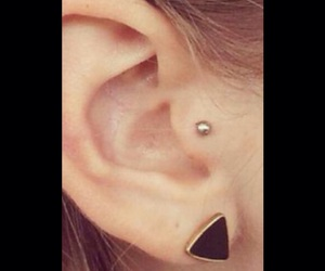 ear, piercing, and tragus image