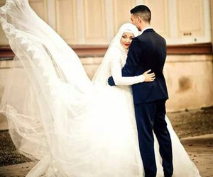 couple, mariage, and muslim image