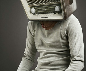 brain, man, and radio image
