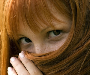 eyes, hair, and red-haired image