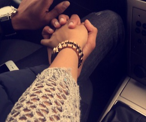 couple, car, and hands image