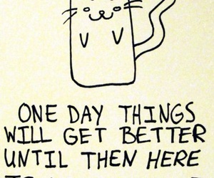 cat, drawing, and quotes image
