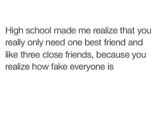 fake, friends, and highschool image