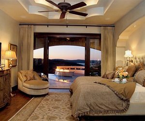 home, luxury, and bedroom image