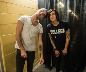 alex gaskarth, all time low, and sleeping with sirens image