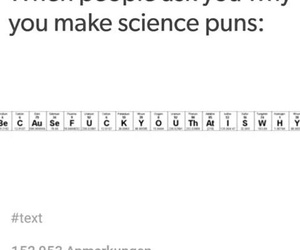 funny, puns, and science image
