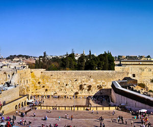architecture, israel, and wailing wall image