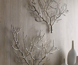 branch, vase, and white image