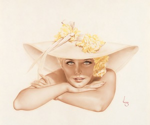 flowers, yellow, and hat image