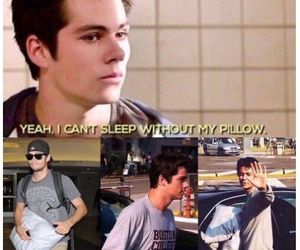 teen wolf, dylan o'brien, and pillow image