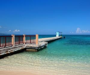 bay, beach, and boardwalk image