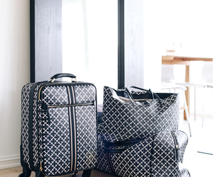 bag, luxury, and suitcase image