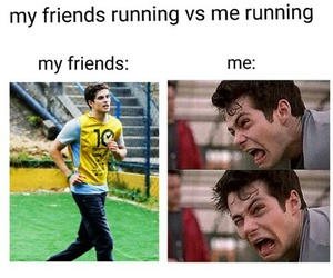 teen wolf, funny, and running image