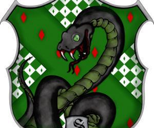 harry potter, slytherin, and escudo image