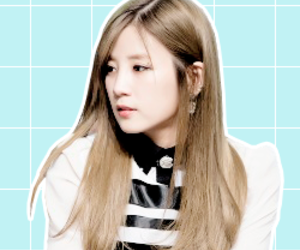 icons, a pink, and chorong image