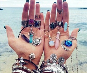 necklace, rings, and accessories image