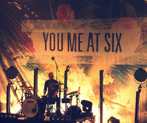 you me at six, band, and drums image