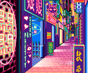aesthetic, lights, and japan image