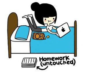 homework, laptop, and apple image