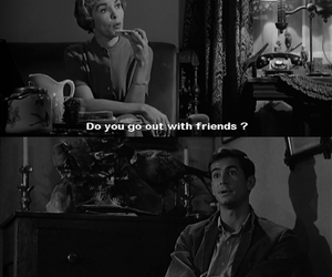 Psycho, anthony perkins, and black and white image