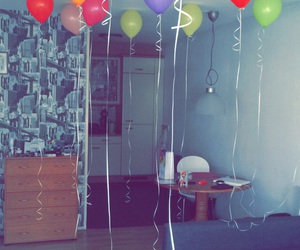 appartment, balloon, and balloons image