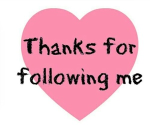 thanks, heart, and followers image