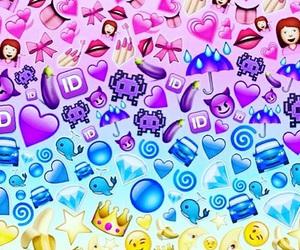 emoji, colors, and blue image