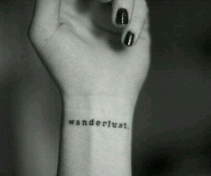 tattoo, wanderlust, and black image
