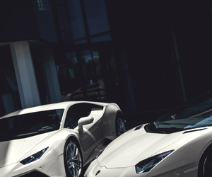car, Lamborghini, and white image
