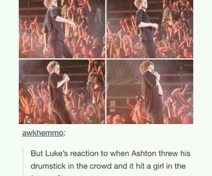 drums, funny, and ashton irwin image