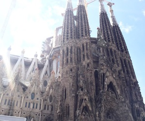 Barcelona, church, and old image