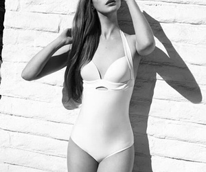 black & white and lana del rey image