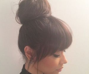 hair, bangs, and hairstyle image