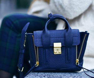 bag, fashion, and blue image