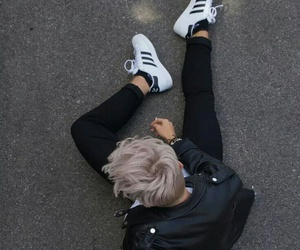boy, adidas, and grunge image