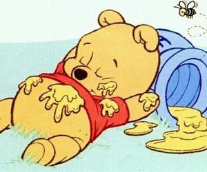 winnie the pooh, honey, and disney image