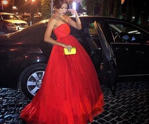 dress, fashion, and red dress image