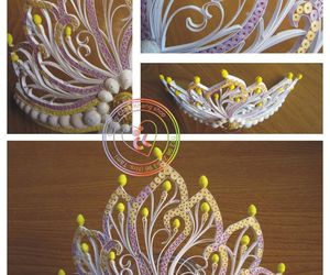 crafts, crown, and Paper image
