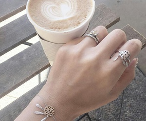 accessories, bracelet, and coffee image